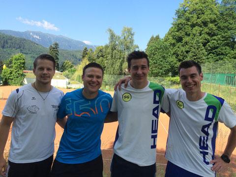 Thomas Ramsbacher, Christopher Pucher, Kilian Hofmann und Bernie Kraler