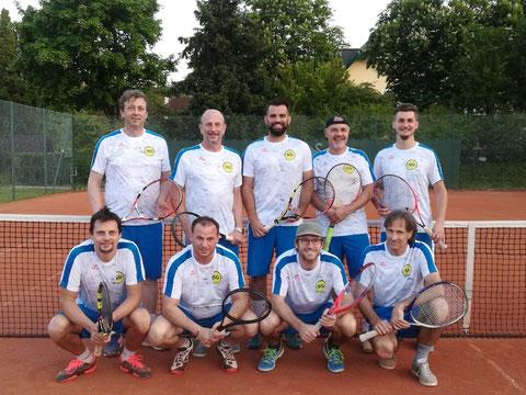 Gerd, Herpi, Christian, Bernd, Florian, Harald, MF Christian, Bernhard und Hons (von oben links nach unten rechts)