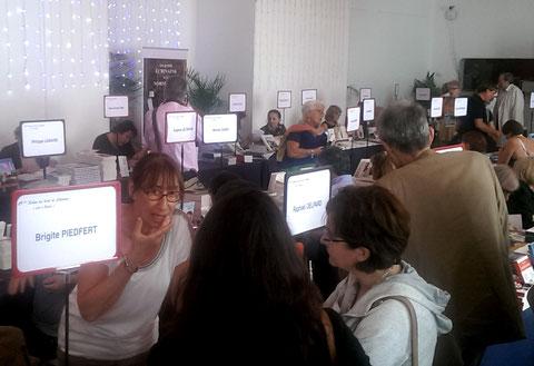 """Belles rencontres au salon du livre de Cabourg """"Lire à Balbec"""" le 11 juillet 2017"""