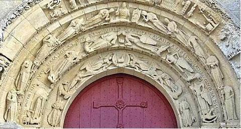 Aulnay de Saintonge - Vierges sages et vierges folles - vertus et vices