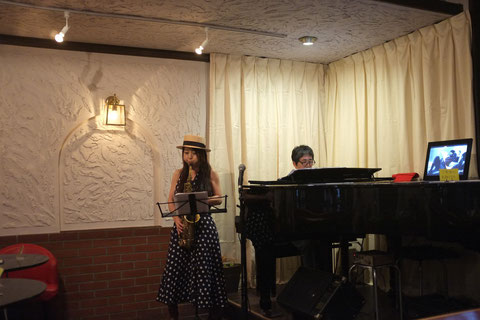 2014.7.12 Piano.久保園英一&Sax.小林里枝