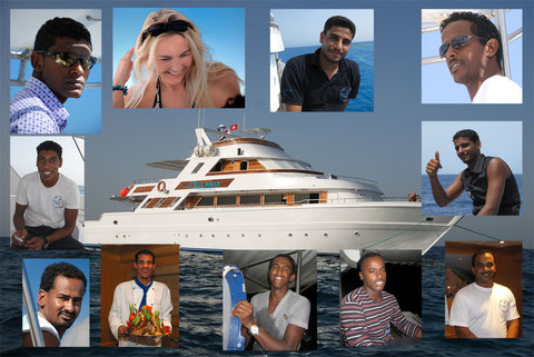2009 - The Crew of M/Y Blue Waves - Ocean Window - click on the left on each name
