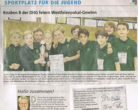Team Knaben-B in der Presse: Ruhr-Nachrichten vom 18.02.16