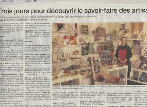 Ouest-France du 30 mars 2012