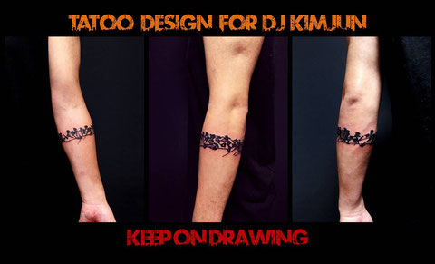 TATOO DESIGN for DJ KiMJUN氏