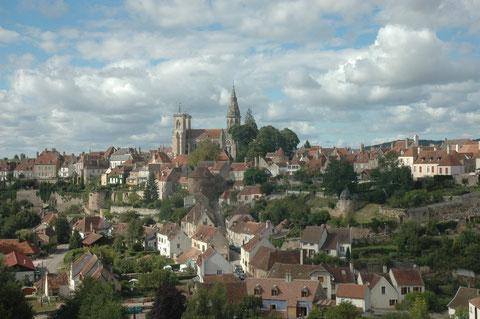 Semu-en-Auxois depuis la fenêtre du train touristique de l'Auxois
