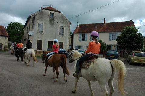 randonnée à cheval Thenissey