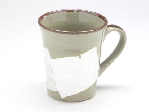 九谷焼 マグカップ 白銀彩