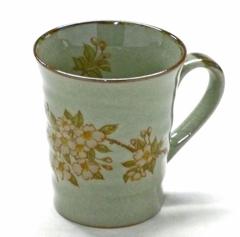 九谷焼【マグカップ】しだれ桜【中裏絵】