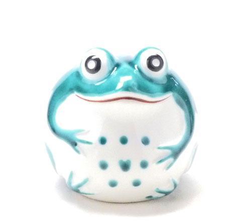 九谷焼【蛙】深緑(大)