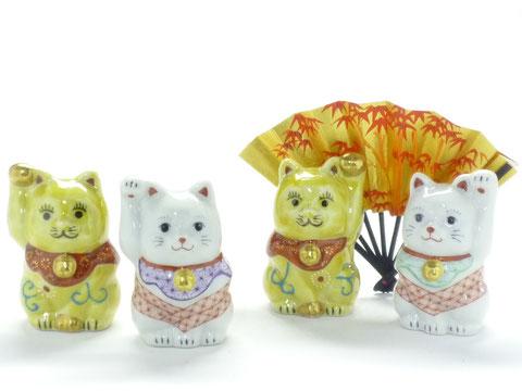 九谷焼 チビ招き猫