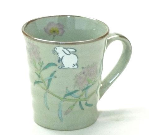 九谷焼『マグカップ』白兎なでしこ『裏絵』