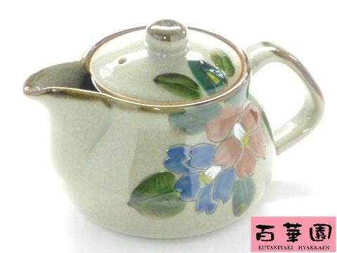 九谷焼 急須・ティーポット 大 コンビ山茶花 裏絵