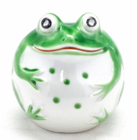 九谷焼【蛙】黄緑(小)