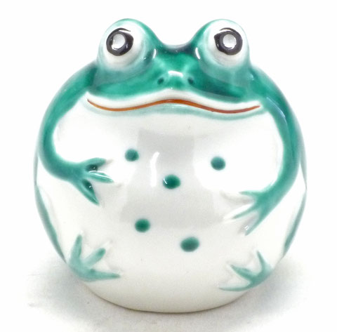 九谷焼【蛙】深緑(小)
