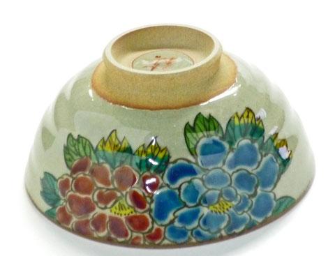 九谷焼【飯碗】大 色絵牡丹