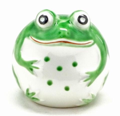 九谷焼【蛙】黄緑(大)