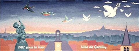Gentilly pour la paix (mur peint - Gentilly)