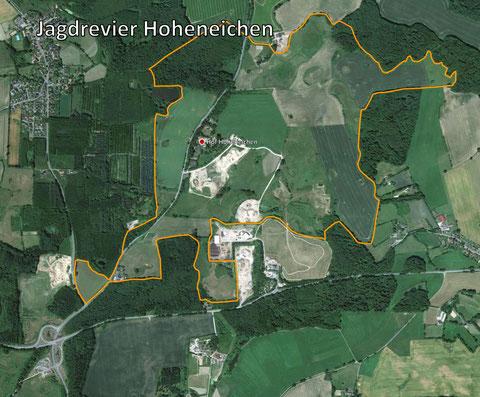 Revierkarte Jagdrevier Hoheneichen
