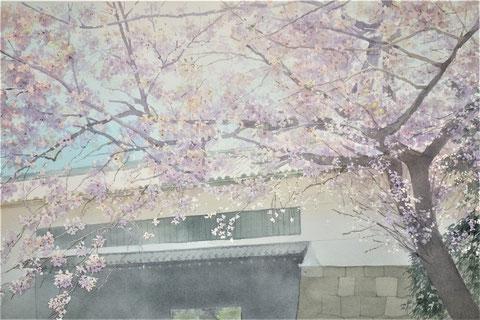 """Work 5, """" Sakura """"  33x50cm,  270,000yen , sold"""