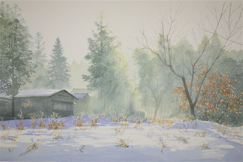 "Work 6 , "" Winter light "" ,  33x50cm,  270,000yen"