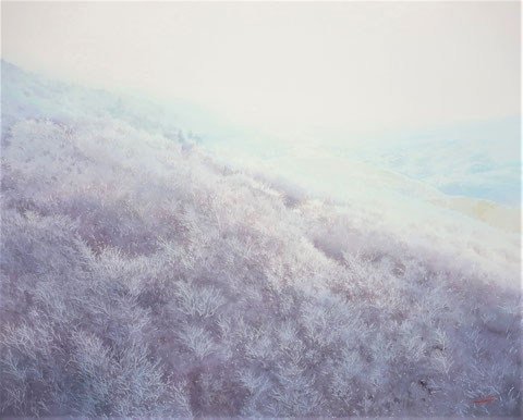 "Work 3 , "" Frozen forest "" ,  73x91cm ,  648,000yen , sold"