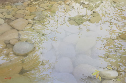 "Work 2 , "" Clear stream "" , 60x91cm, 540,000yen"