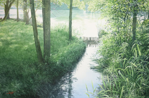 "Work 1 "" Lakeside "" , 60x91cm,  540,000yen , sold"
