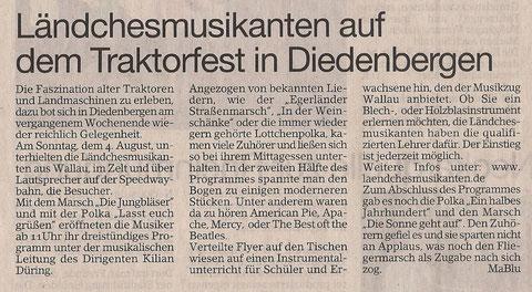 Bericht im Erbenheimer Anzeiger 09.08.2013