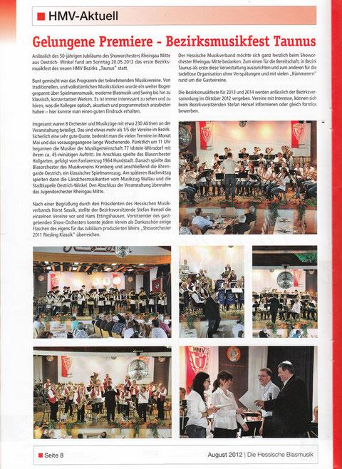 """Aus der Verbandszeitschrift """"Die Hessische Blasmusik"""""""