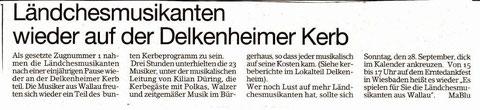Bericht im Erbenheimer Anzeiger vom 26.9.2014