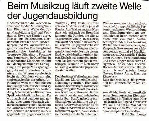 Bericht im Erbenheimer Anzeiger vom 9.5.14