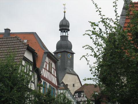 Alter Ortskern von Wallau mit Kirche