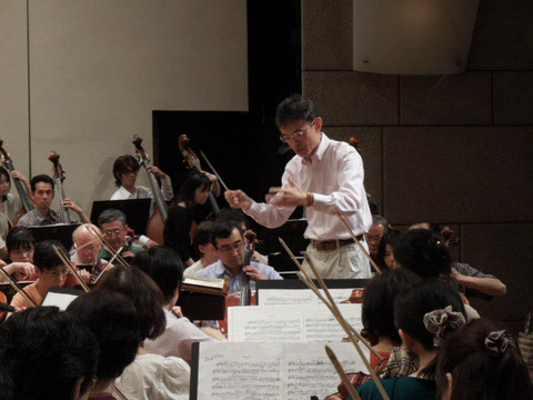 西宮交響楽団とのリハーサル風景