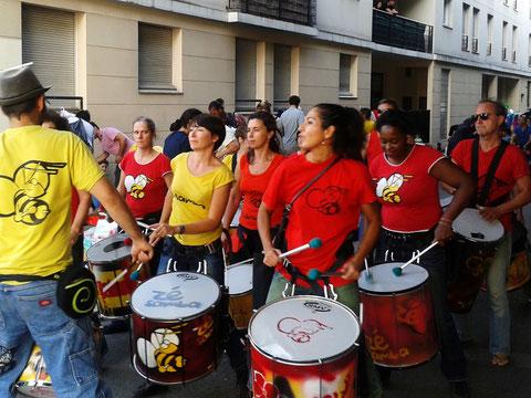 Fête de quartier - Saint-Denis - Septembre 2014 - Batucada Zé Samba