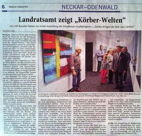 """Landratsamt zeigt """"Körber-Welten"""" - © Peter Lahr / Rhein-Neckar-Zeitung 05.10.2016"""
