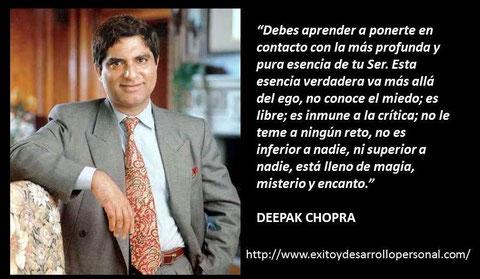 Frases De Deepak Chopra Desarrollo Personal Superación Y