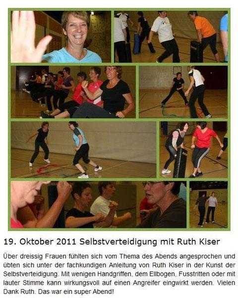 Selbstverteidigung mit Ruth Kiser
