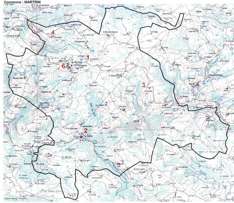 plan des sites touristiques de Martrin