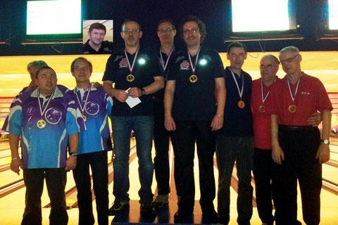 Victoire de l'équipe BCV (Y. Strobbe, C. Mosmant, P. Broutin et T. Lavergne)