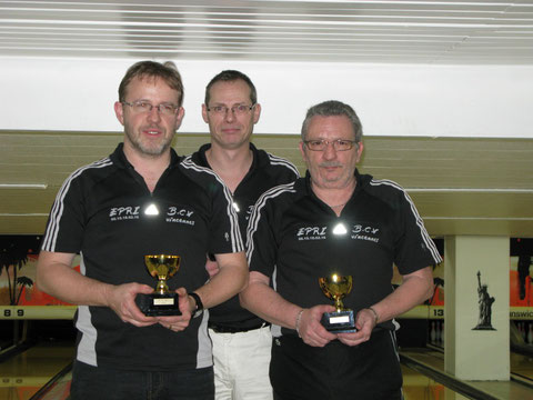 Christian MOSMANT, Patrick BROUTIN et Patrick PERRINI vainqueurs de la petite finale