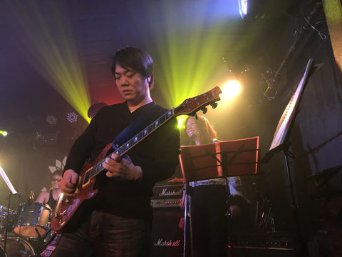 Hirotaka (Lead guitar) and Aileen (Chorus)