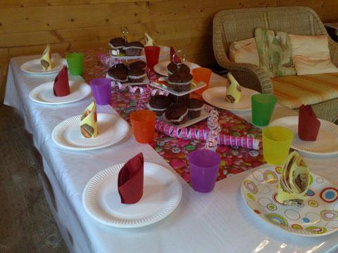 Geburtstag feiern in Wülfrath, der Geburtstagstisch.