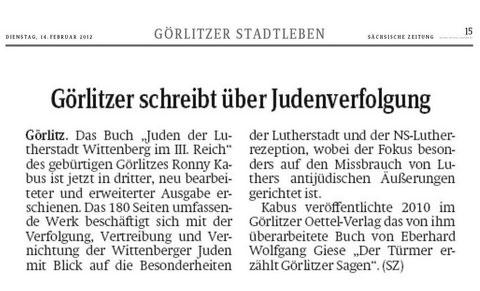 Sächsische Zeitung 14.02.2012