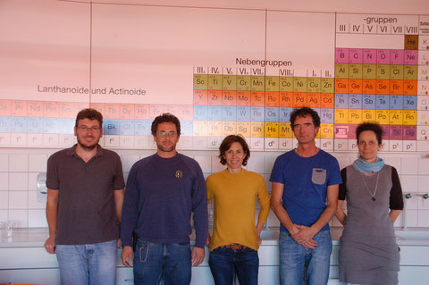 Die Fachschaft Chemie: Herr Claus, Herr Engelhardt, Frau Seller, Herr Bürger, Frau Malzacher