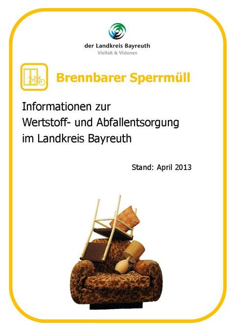 Brennbarer Sperrmüll - Stand 04-2013 - S. 1/4
