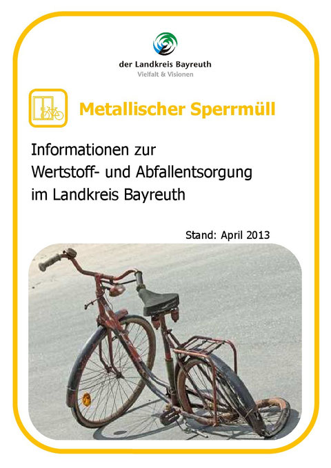 Metallischer Sperrmüll - Stand 04-2013 - S. 1/4