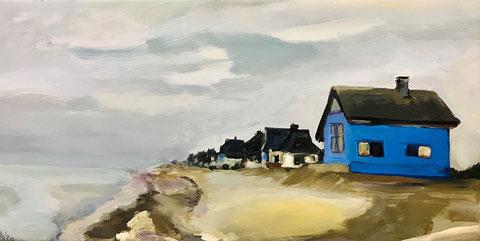 Meer, Ostsee, Heiligenhafen, Graswarder, blaues Haus, Strand, Hochwasser,