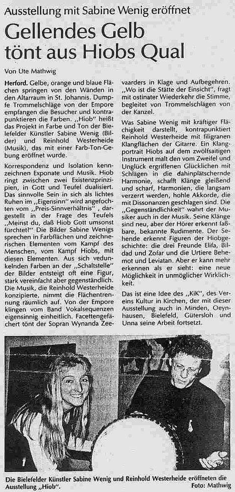 """Sabine Wenig Ausstellung """"Gellendes Gelb"""""""