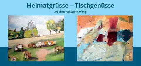 """Sabine Wenig: Einzelausstellung """"Heimatgrüße - Tischgenüsse"""" in der Alten Lederfabrik in Halle"""